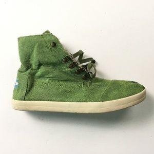 Toms Green Boots 10 A03:x01784
